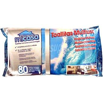 MiCasa Toallitas limpiadoras multiusos paquete 80 unidades Paquete 80 unidades