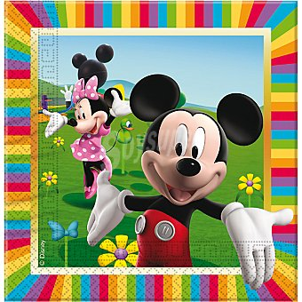 DISNEY servilletas Mickey Colours 33x33 cm  paquete 20 unidades