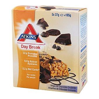 Atkins Barritas con migas de chocolate Pack de 5x37 g