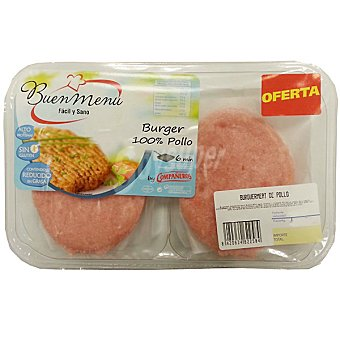 Compañeros Hamburguesas 100 % de pollo 4 unidades bandeja 320 g 4 unidades