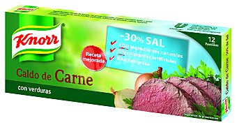 Knorr Caldo suave de carne-verdura 12 pastillas