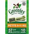 Snacks dentales para perros de 8-11 kg Envase 10 unidades Greenies