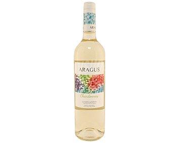 Aragus Vino blanco Chardonnay con denominación de origen Campo de Borja botella de 75 cl