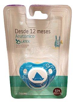 HIPPOS Chupete latex anatómico más de 12 meses azul 1 unidad
