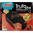 Trufo Plus helado bombón de chocolate con cobertura de cacao 70% 3 unidades sin gluten Estuche 180 g Kalise
