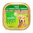 Comida perro pate cordero pollo y verduras adulto razas medianas y grandes Tarrina 300 g Bobby
