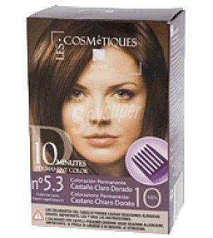 Les Cosmetiques Tinte capilar permanente 10 minutos Castaño claro dorado nº 5.3 1 ud