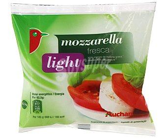 Auchan Queso fresco mozzarella light 125 Gramos