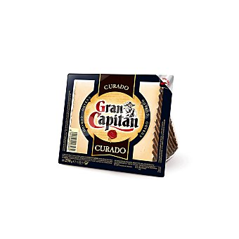 Gran Capitán Queso curado cuña Envase 250 gr