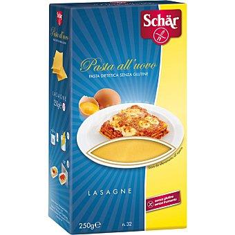Schär Lasaña sin gluten, pasta de sémola de trigo duro de calidad superior al huevo en placas precocidas 250 Gramos