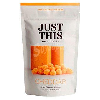 Just Snacks de queso cheddar this Bolsa 50 g