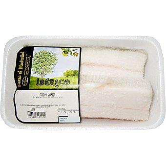 SIERRA EL MADROÑAL Tocino de cerdo ibérico salado peso aproximado bandeja 200 g 1-2 unidades