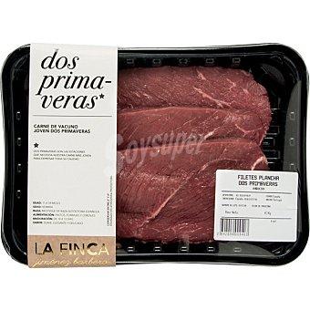 LA FINCA Filetes de ternera 1ºA para plancha  bandeja 400 g peso aproximado
