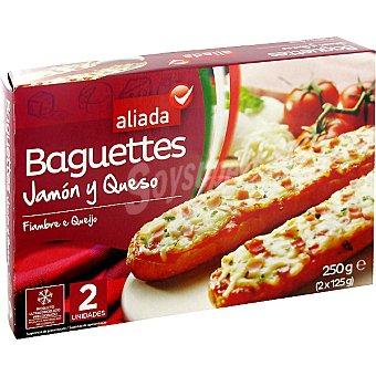 Aliada Baguettes de jamón y queso estuche 250 g 2 unidades