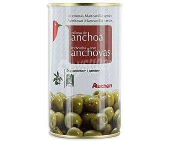 Auchan Aceitunas rellenas de anchoa Lata de 150 gramos
