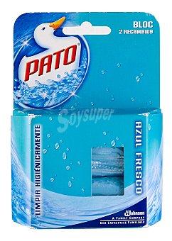 Pato Regambio de colgador wc azul fresco Pack 2x40 g