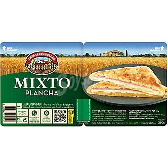 Casa Tarradellas Sándwich mixto relleno de jamón y queso ds. 135 g Pack 2 un