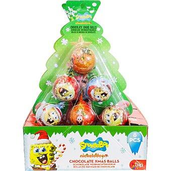 Bip candy Árbol Bob Esponja con 8 bolas de chocolate Unidad 75 g