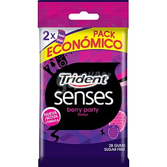 Trident Chicle senses berry party 28 unidades