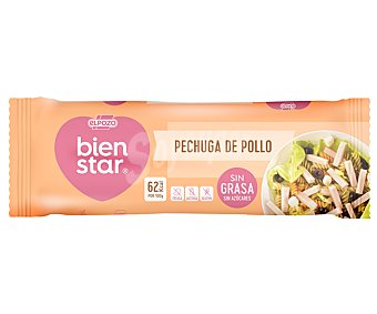 ElPozo Pechuga de pollo cocida con sabor ahumado sin grasa ni azúcares Bienstar 340 g