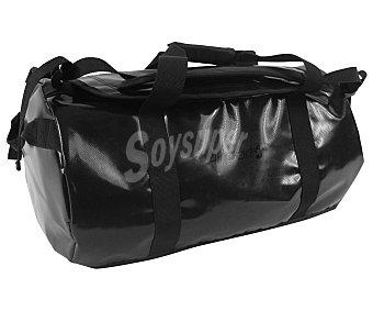 AIRPORT Bolsa de viaje multibolsillos, de PVC impermeable color negro, medida: 50 centímetros 50cm