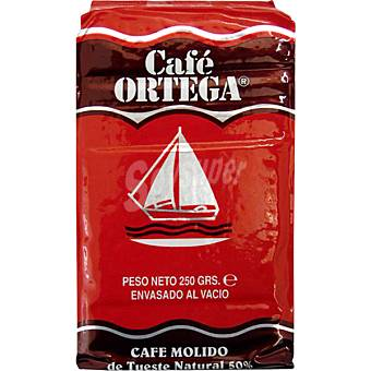 Ortega Café Molido Mezcla - 50% Natural 50% Torrefacto 250 g