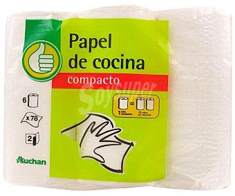 Productos Económicos Alcampo Rollo decocina compacto Paquete de 6 unidades