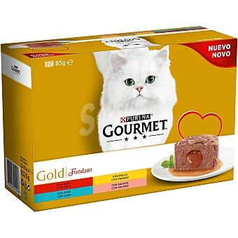 Gourmet Comida para gatos húmeda fondant Pack 12 x 85 g