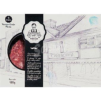 El bigotes Burger meat mixta de vacuno y cerdo 4 unidades bandeja 480 g 4 unidades
