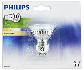 Philips Foco EcoHalo halógeno 25W blanca cálido 230V, casquillo GU10 1 Unidad