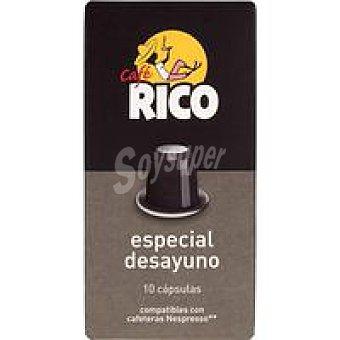 Rico Café especial desayuno en cápsula Paquete 50 g