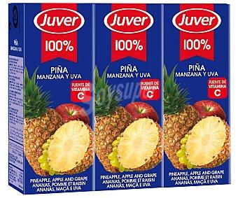 Juver Disftuta Néctar de Piña sin azúcares añadidos 3x 200ml
