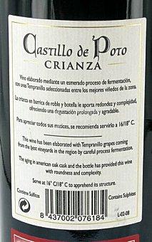 CASTILLO DE POTO Vino Tinto de Valdepeñas Crianza Botella 75 Centilitros