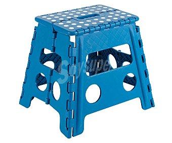 ARREGUI Taburete plegable de resina de 29x22x32 centímetros y color azul 1 unidad