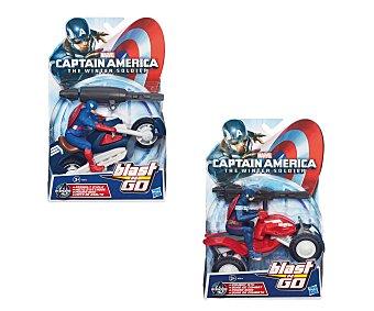 Marvel Vehículo y figura del Capitán América Avenger, Blast & Go 1 unidad