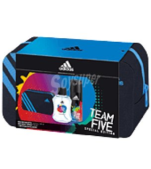 Adidas Estuche de colonia spray 100 ml. + desodorante 150 ml. + neceser Team Five 1 ud