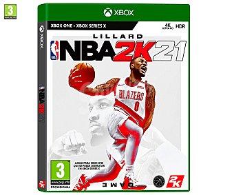 Deportes NBA 21 para Xbox One. Género: , baloncesto. pegi: +3 2k