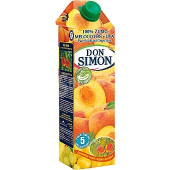 Don Simón zumo exprimido de melocotón y uva envase 1 l