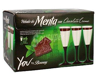 Bornay Copas heladas de menta con chocolate 6 unidades