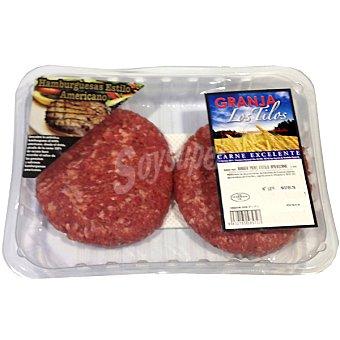 Granja los tilos hamburguesas de vacuno al estilo americano bandeja 435 g