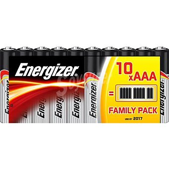 Energizer Pilas AAA (LR03) blister 10 unidades 10 unidades