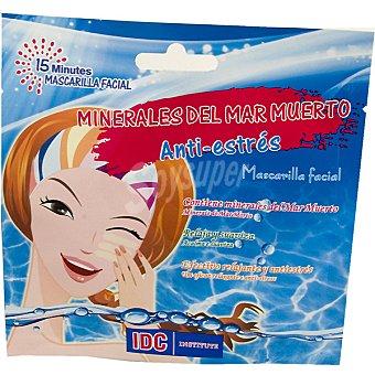 IDC INSTITUTE Mascarilla facial Anti-estrés con minerales del Mar Muerto releja y suaviza Envase 15 ml
