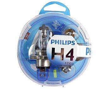 Philips Estuche de bombillas H4-P21W-P21/5W-PY21W-W5W y 3 fusibles 10-15-20A Pack 1 Unidad