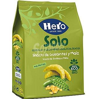 Hero Snacks de guisantes y maíz de origen 100% ecológicos solo 50 g