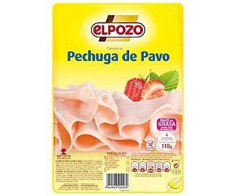 ElPozo Fiambre de pechuga de pavo, sin gluten, baja en grasas y cortada en lonchas 110 g