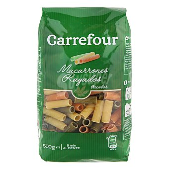 Carrefour Macarrones tricolores 500 g