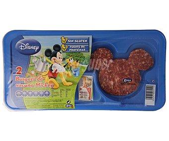Roler Hamburguesas de ternera Mickey Paquete 2 unidades (120 g)