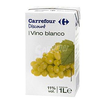 Carrefour Discount Vino blanco de mesa brik 1 l