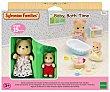 Conjunto de juego La hora del baño para el bebé con figuras y accesorios FAMILIES. Sylvanian Families