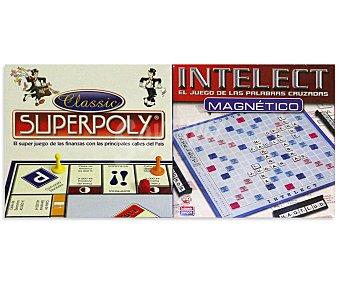 FALOMIR JUEGOS Juegos de Mesa Superpoly + Intelect Magnético, de 2 a 4 Jugadores 1 Unidad